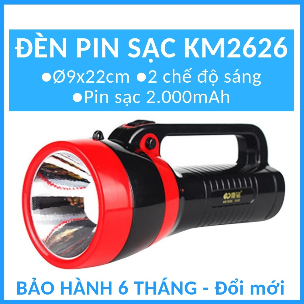 Đèn pin sạc điện đa năng Đèn bàn Đèn cầm tay ngoài trời KM2626 / KM2651