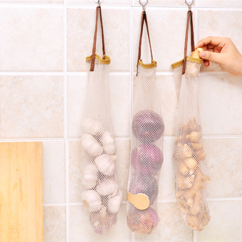 Ocaler Reusable Fruit and Vegetable Hanging Storage Mesh Bag