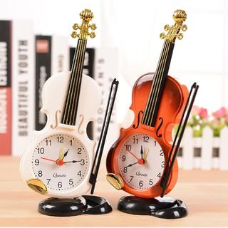 Đồng hồ để bàn hình Vĩ Cầm Đàn Ghitar Đồng hồ báo thức