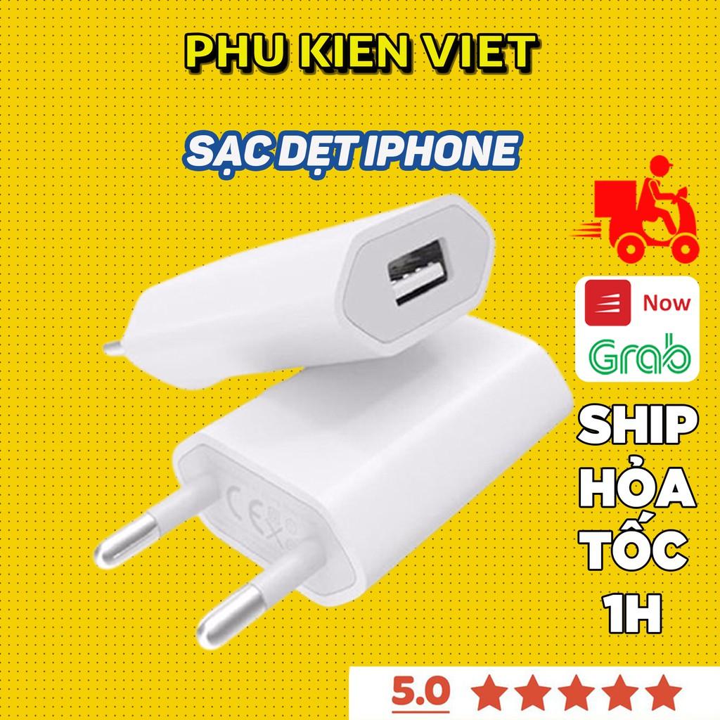 Cốc sạc iPhone chính hãng Apple 5/5s/6/6plus/6s/6splus/7/7plus/8/8plus/x/xr/xs/11/12/pro/max/plus/promax - Phụ Kiện Việt
