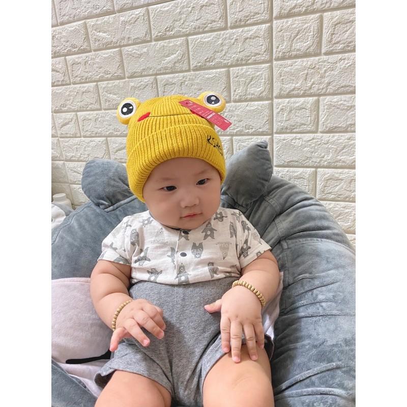 [ Hàng QC ] Mũ len con ếch siêu xinh siêu ấm cho bét trai/ bé gái