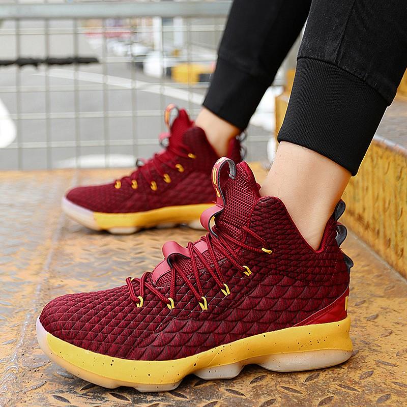 36-45 Giày Thể Thao Chơi Bóng Rổ Phong Cách Năng Động Trẻ Trung Dành Cho Nam Lebron James Soldier 15 Basketball Shoes