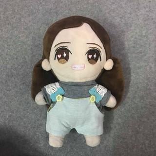 Bộ yếm áo thun outfit doll 20cm