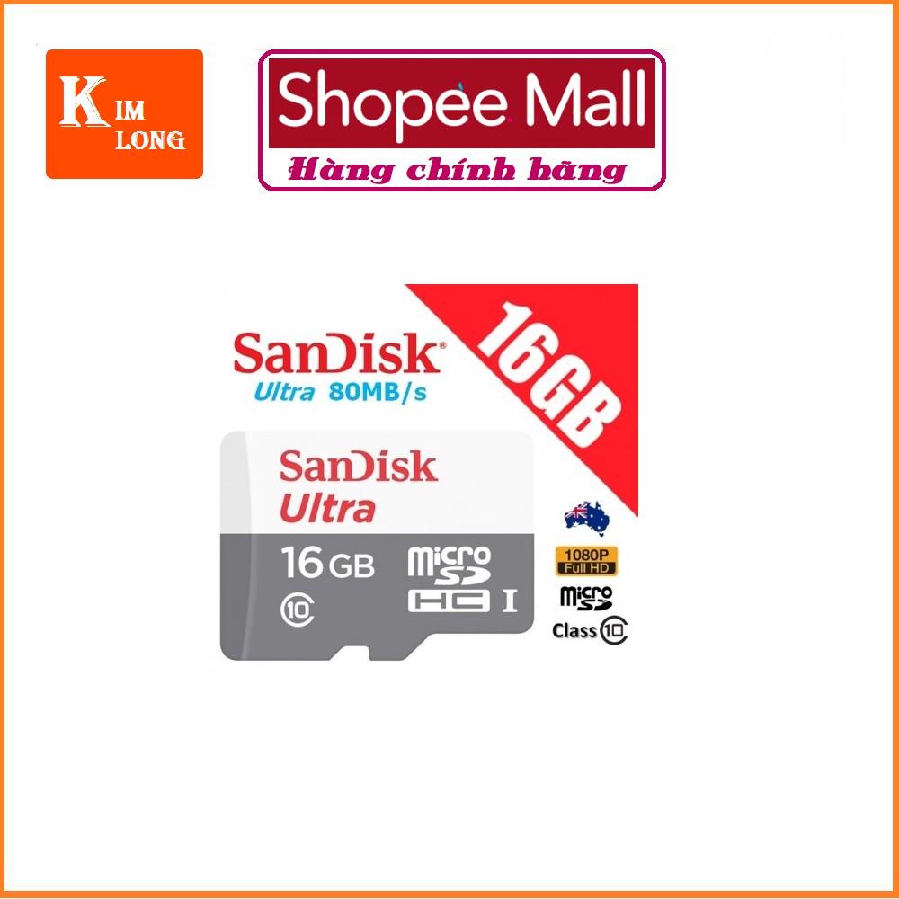 Thẻ nhớ 16GB Micro SDHC Ultra 533X C10 80MB/s SanDisk - Model 2018 - 2670466 , 888163023 , 322_888163023 , 210000 , The-nho-16GB-Micro-SDHC-Ultra-533X-C10-80MB-s-SanDisk-Model-2018-322_888163023 , shopee.vn , Thẻ nhớ 16GB Micro SDHC Ultra 533X C10 80MB/s SanDisk - Model 2018