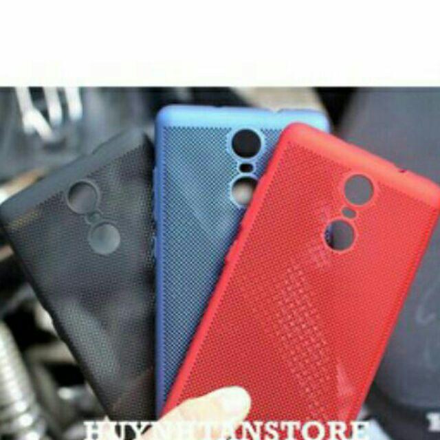 Bộ ốp lưới + kính cường lực Xiaomi Redmi Note 4 đủ màu