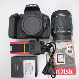 Bộ máy ảnh Canon 750D Và LENS EF-S 18-55 f3.5-5.6 mới 99%