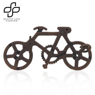 BEAUTY~Vintage Metal Bike Maze Puzzle IQ Brain Teaser Educational Toy