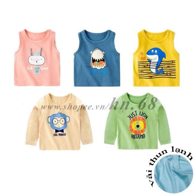 Áo phông cotton thun lạnh cho bé trai và bé gái (HN 571/ 573)