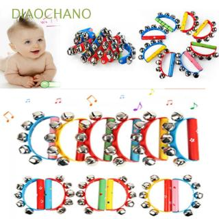 DIAOCHANO Baby Child Wooden Jingle Bell Maraca Musical Toy