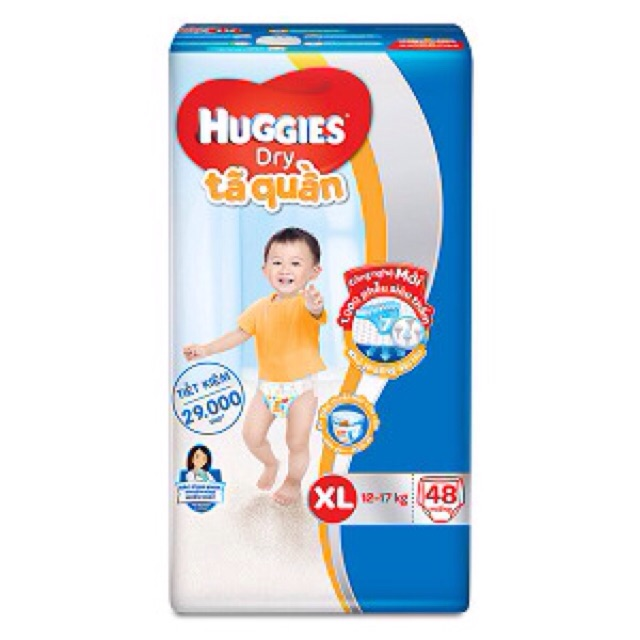 Tã quần huggies XL48, L68, XL62