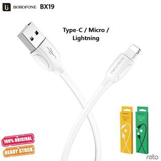 Cáp sạc Borofone BX19 Cho điện thoại 2.1A Lightning TypeC Dài 1m thumbnail