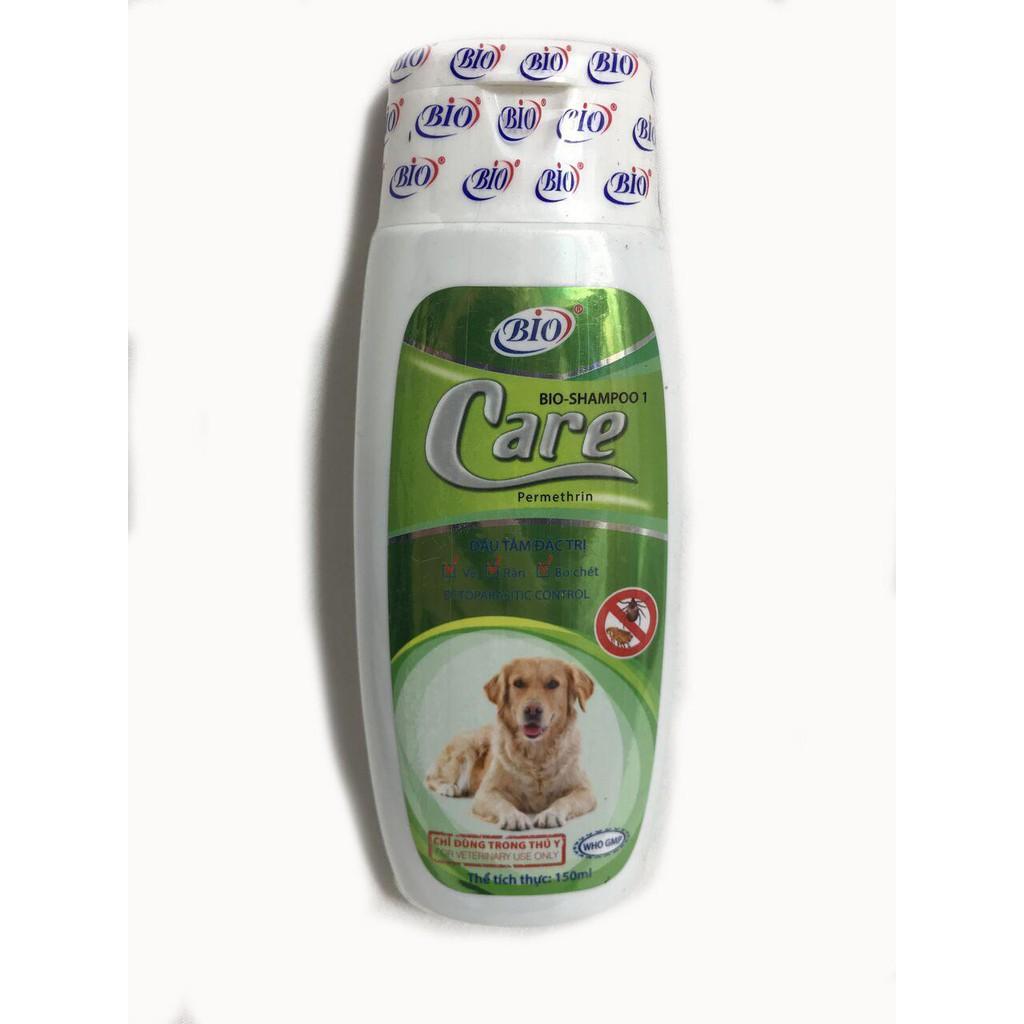 Bio Shampoo Care - Dầu gội Trị ve cho Chó Mèo - 150ml