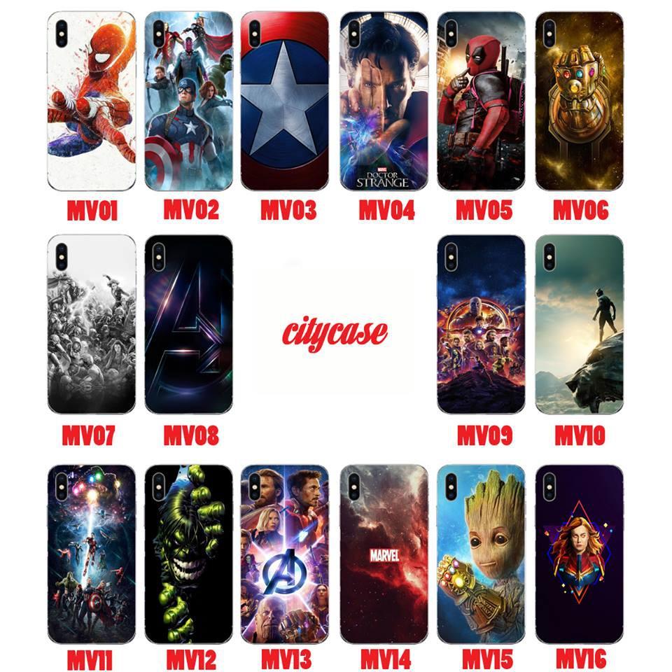 Ốp in hình cho Iphone7 5D Marvel (Part 1)