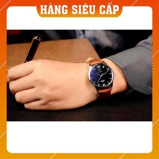 [CAO CẤP] Đồng hồ nam Yazole 318 dây da
