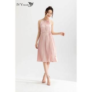 Đầm xếp ly cổ yếm nữ IVY moda MS 41M6335 thumbnail
