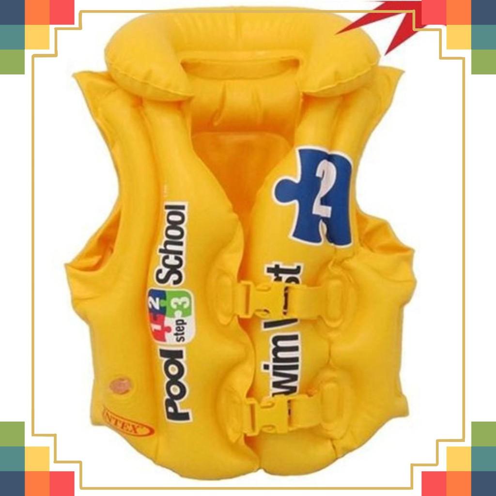 Hàng mới về Áo phao giúp bé tập bơi, có nút bơm hơi cực căng hàn FreeShip