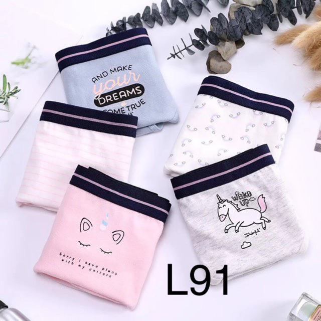 Set 5 quần chip - quần cute - quần lót nữ - quần cotton -CAMLUU99 | WebRaoVat