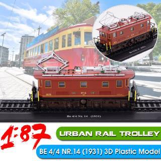 1:87 Urban Trolley BE 4/4 NR.14 (1931) Static Display 3D Locomotive Model