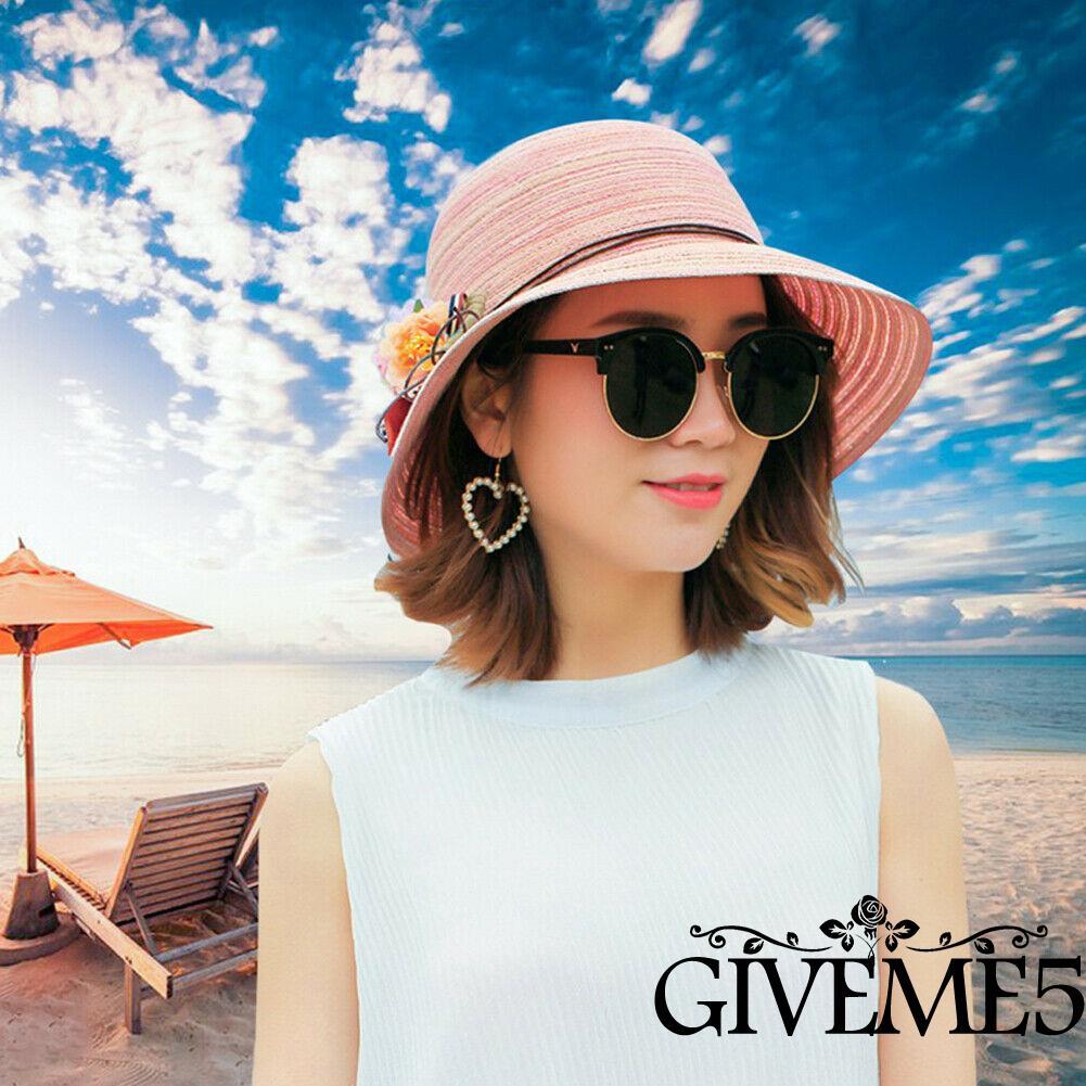 Mũ cói vành rộng che nắng thời trang đi biển cho nữ
