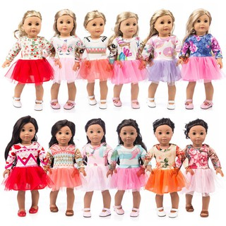 5pcs/set Different Fashion Chiffon Mini Dress for 18 inch American Doll Dress