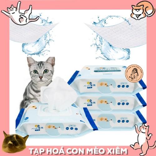 Khăn giấy ướt khử trùng chuyên dụng dùng để lau tay chân mặt nhanh cho thú cưng chó mèo