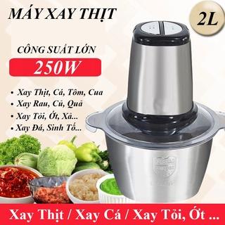 [SALE] Máy Xay Thịt Cối Inox 4 Lưỡi Đa Năng,Công suất 250W,300W- Máy xay thịt,xay sinh tố,xay tỏi ới, Hàng chính hãng
