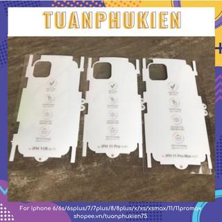 PPF Cầu Vồng Iphone 🌈 FREESHIP 🌈 Skin Dán PPF Cầu Vồng Tự Phục Hồi Cho Các Dòng IPhone 6-12Promax- Tuấn Phụ Kiện