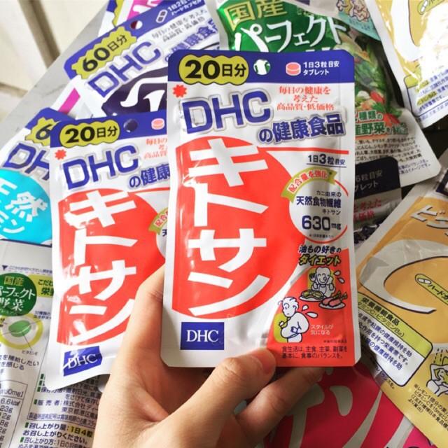 Viên uống giảm mỡ bụng DHC Chitosan 20 ngày