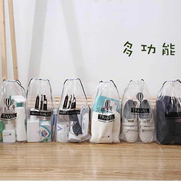 Túi đựng giày dép đồ trang điểm trong suốt chống nước 36*24cm