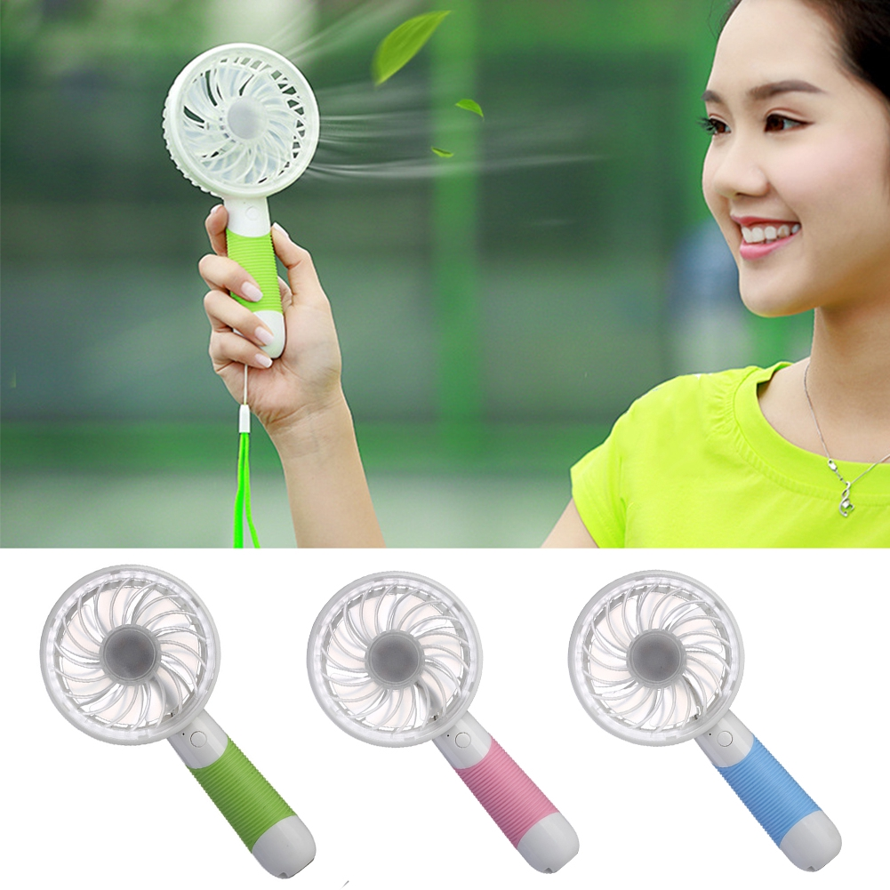 Summer Portable Eco-friendly Students Outdoor Cooling Handheld USB Rechargeable Mini Fan