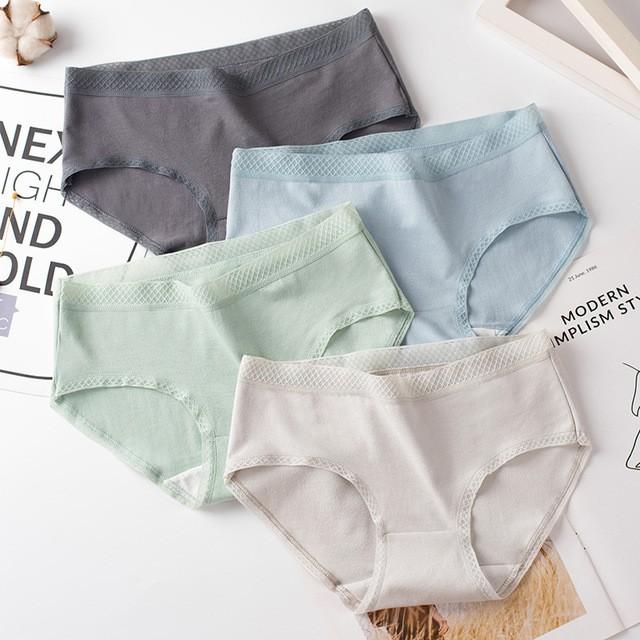Quần Lót Cotton Cạp Lưới Cao Cấp (40-75kg)