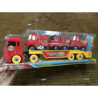 Đồ chơi mô hình oto cứu hỏa – có bánh đà