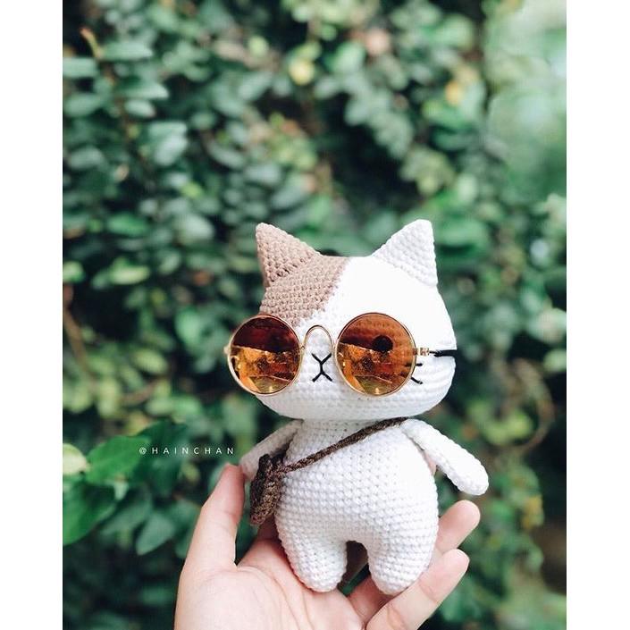 [DIY] Hướng dẫn móc mèo len / thú bông chân ngắn Hainchan handmade – bản tiếng Việt