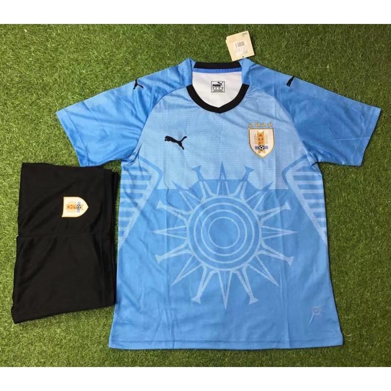Quần áo đá banh đội tuyển Uruguay xanh chất thun xịn( size châu âu) - 3051403 , 851248133 , 322_851248133 , 160000 , Quan-ao-da-banh-doi-tuyen-Uruguay-xanh-chat-thun-xin-size-chau-au-322_851248133 , shopee.vn , Quần áo đá banh đội tuyển Uruguay xanh chất thun xịn( size châu âu)