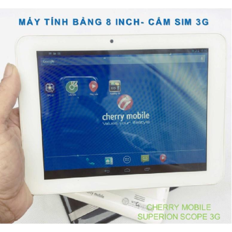 Máy tính bảng hỗ trợ nghe gọi, xem Youtube mạng 3G/Wifi Cherry Mobile Scope 3G- màn hình 8inch