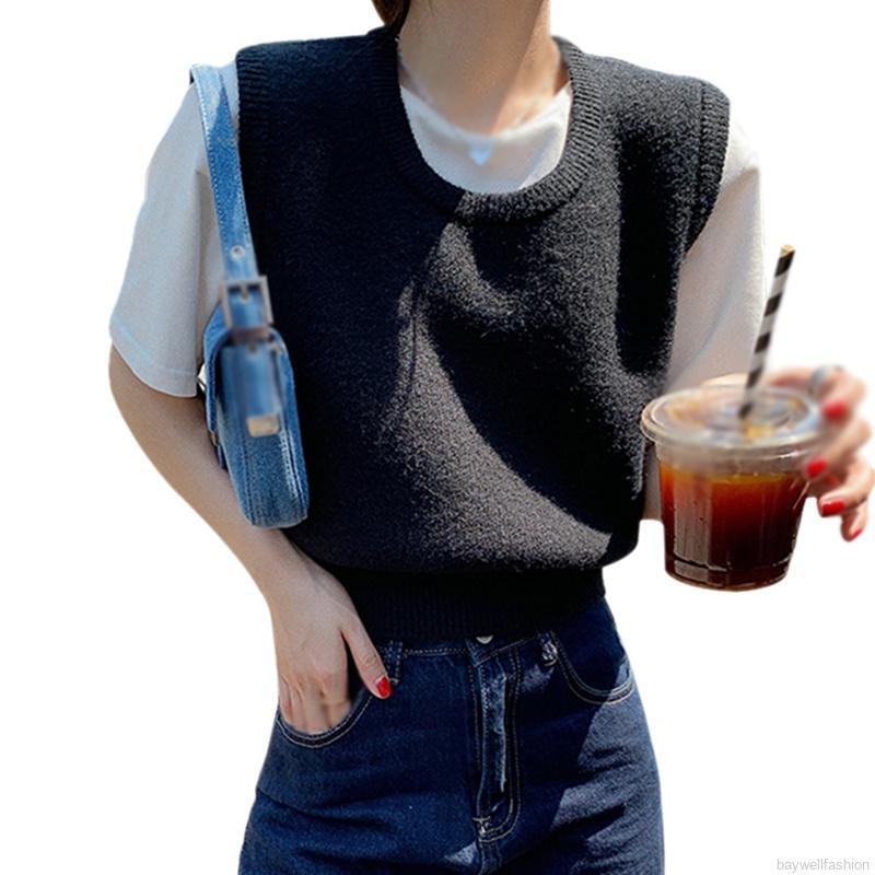 [Baywellfashion]Áo Gi-Lê Len Dáng Ngắn Thiết Kế Trẻ Trung Hợp Thời Trang Cho Bạn Gái