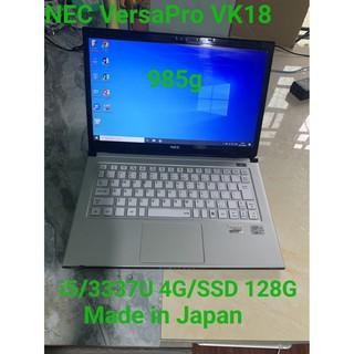 Laptop siêu mỏng siêu nhẹ Nhật Bản NEC VersaPro PC-VK18T Core i5-3337U, 4gb Ram,128gb SSD 13.3inch HD, vỏ magie siêu bền
