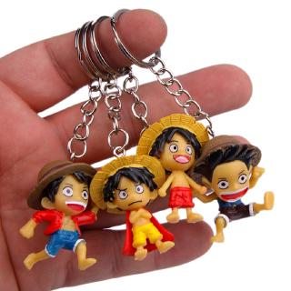 #ReadyStock# 4Pcs/set ONE PIECE Monkey D. Luffy Keychain Doll Gift For Kid Toys