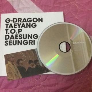 Album Big Bang-( chỉ có cd, ptb và card)