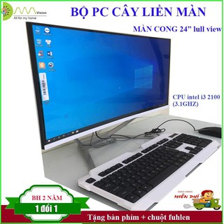 Màn hình cong 24 full view, CPU intel i3 2100 (3.1Ghz) , Ram DDR3 4G/1600, SSD 240G, Chipset H61 (wifi+ key mouse)