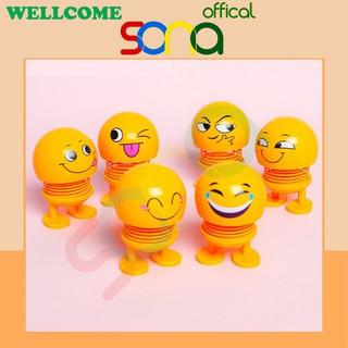 [Mã SRJULY1619 giảm 15K đơn 50K] Thú nhún lò xo emoji đồ chơi đồ trang trí nhiều biểu cảm - SONA offical thumbnail