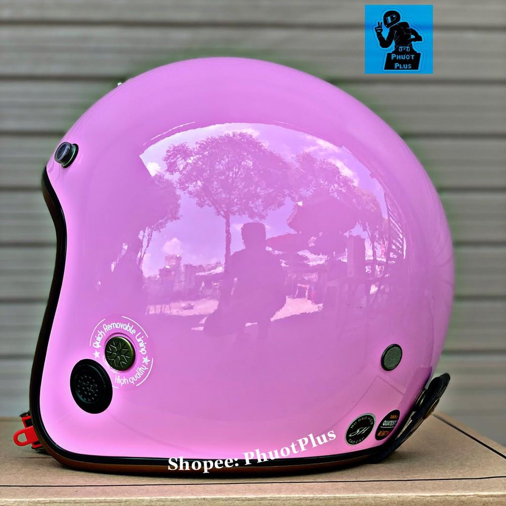 [16 Màu ] Mũ bảo hiểm Napoli Ruby cao cấp - Màu hồng nhạt