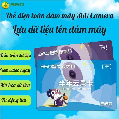 THẺ CLOUD CAMERA QIHOO 360   THẺ ĐIỆN TOÁN ĐÁM MÂY CAMERA QIHOO   THẺ CLOUD 360 CAMERA IP