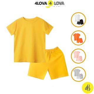 Bộ cộc tay thun quần áo cho bé 4LOVA mùa hè chính hãng từ 8-40 kg