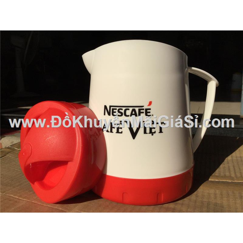 Bình đá 1 lít nhựa Đại Đồng Tiếng của Nestcafe (Cafe Việt) tặng.