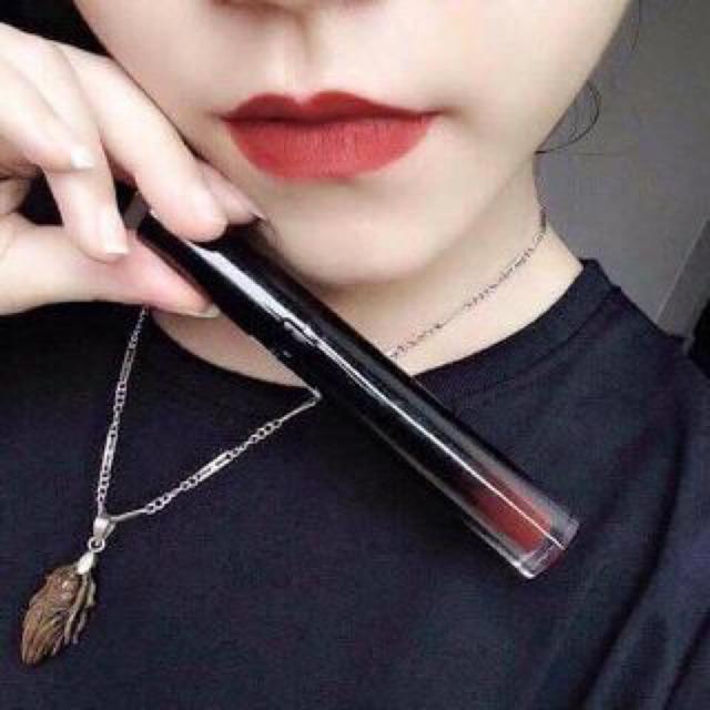 Chulipstick màu đỏ gạch+tặng son dưỡng môi