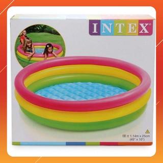 """MAU MOI """" Bể bơi Intex xếp gọn tại nhà giúp bé thoải mái ở nhà 25×114 cm MỚI HOT"""