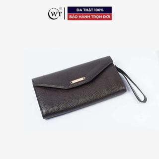 Ví Nữ Da Bò Cao Cấp Màu Nâu WT Leather 0678.1 thumbnail
