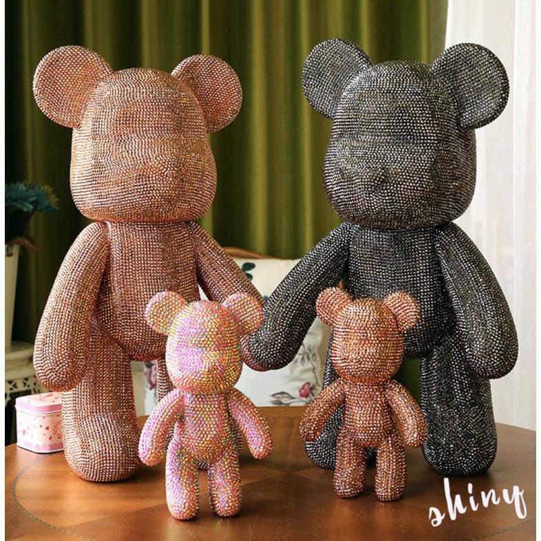 Gấu đính đá handmade Bearbrick size 23cm cao cấp cho mọi lứa tuổi