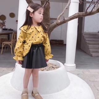 Áo sơ mi lót lông cho bé gái 12-26kg. Hàng Quảng Châu cao cấp